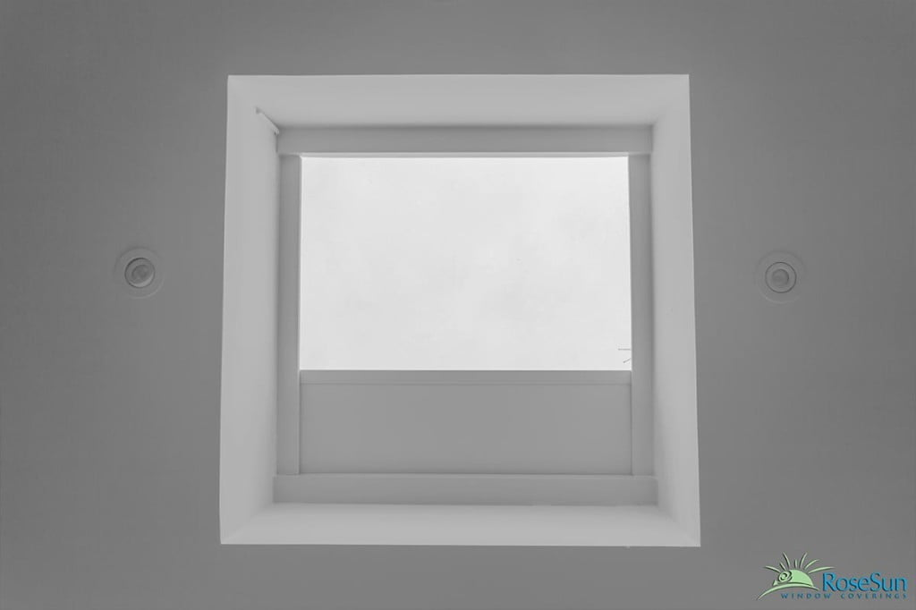 Motorized skylight shades and blindsrose sun window coverings for Electric skylight shades motorized blinds